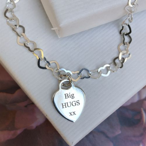 Big HUGS gift bracelet - FREE ENGRAVING